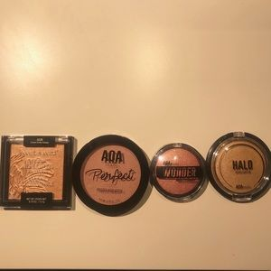 Four Pressed Highlighters